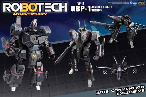 Toynami VF-1J GBP-1 Armored Stealth Veritech set SDCC 2015 promo ad image