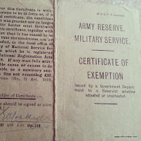 Military service certificate of exemption