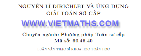 ung dung nguyen ly dirichlet giai toan so cap trinh viet phuong