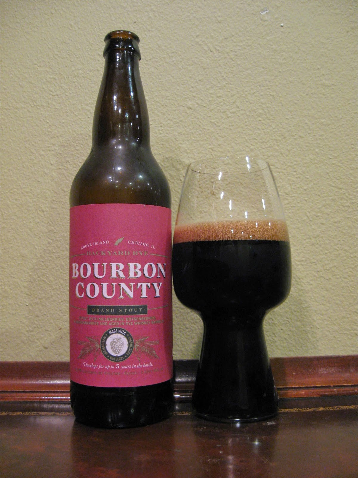 Bourbon County Backyard Rye doing beer justice: goose island bourbon county brand backyard rye stout