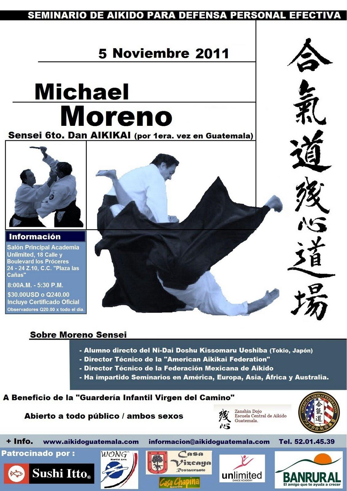 Afiche 7mo. Seminario Zanshin Dojo Aikido Guatemala