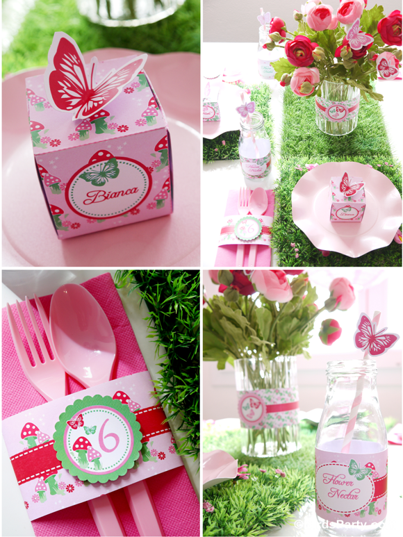 Pink Pixie Fairy Birthday Party Ideas and Decor