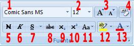 Manejar el formato fuente en Word 2007