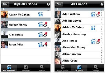 Kipcall iPhone app