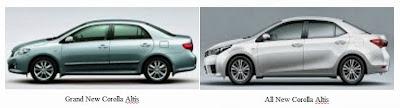 Perbedaan Grand New Corolla Altis dan All New Corolla Altis
