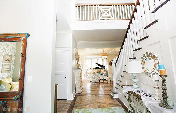Foyer Stairs Utah : Juneberry lane a dream home tour part one