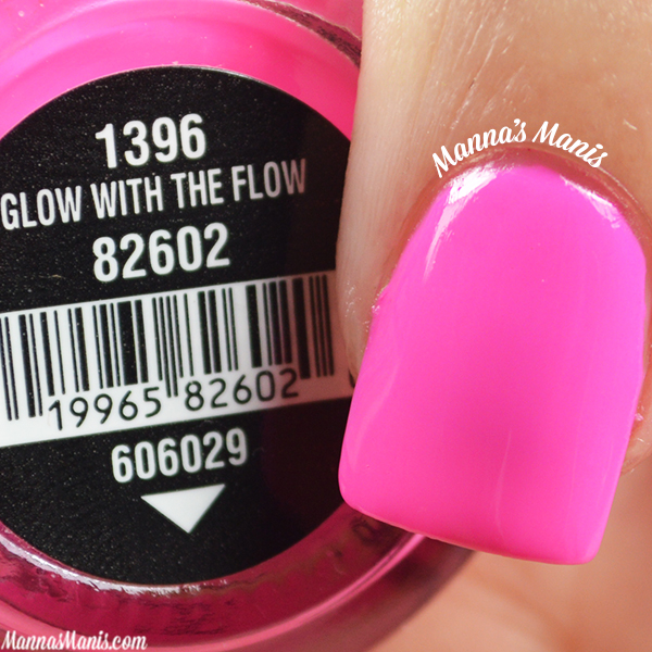 China Glaze Electric Nights Glow With the Flow swatches