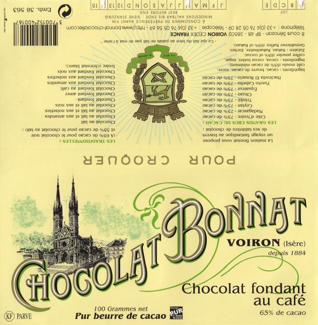 tablette de chocolat noir gourmand bonnat noir fondant au café
