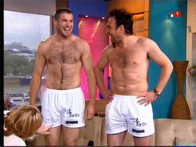 Shirtless Athletes Rugby Player Ben Cohen Shirtless