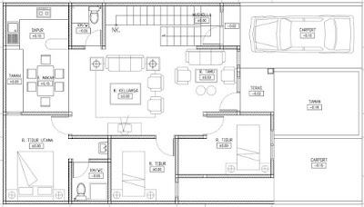 Sketsa Denah Rumah Minimalis Sederhana dan Modern Terbaru 2016
