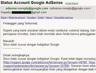 konten tidak sesuai kebijakan google adsense