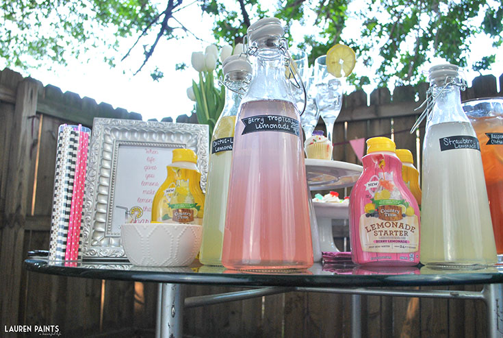 Brunch + A Sparkling Lemonade Bar - Pour More Fun with Country Time Lemonade Starters