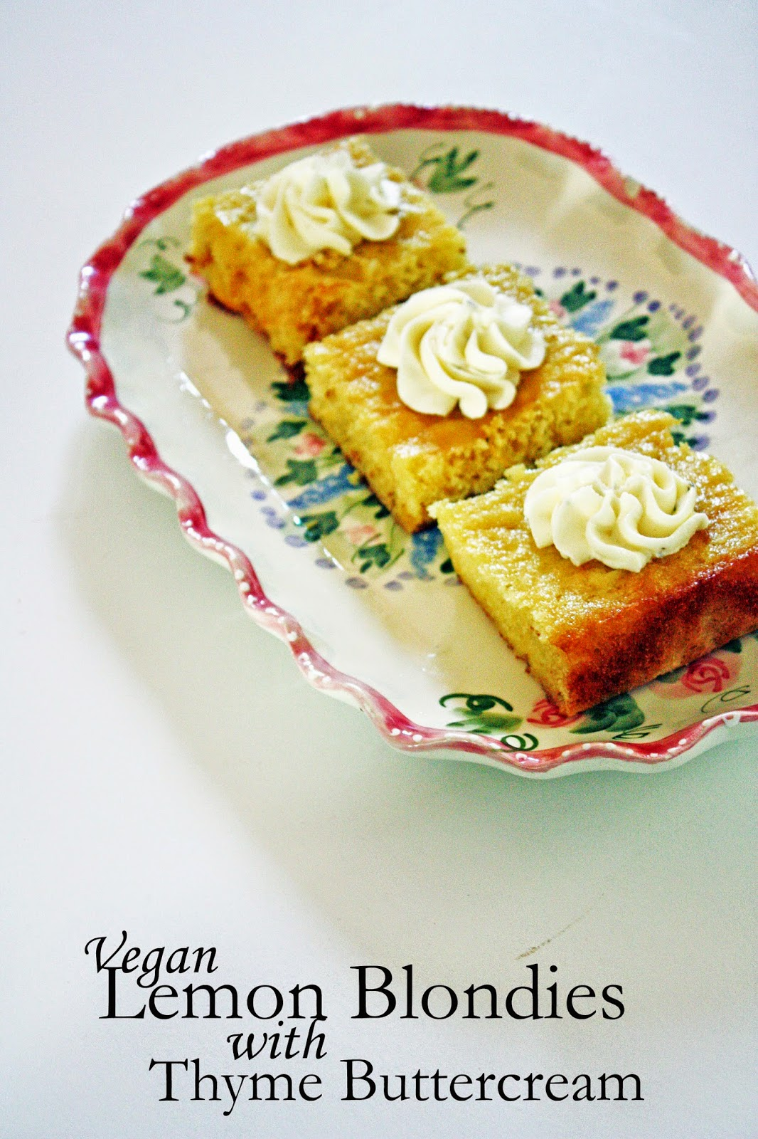 vegan lemon blondies with thyme buttercream recipe