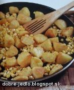 Zapekané zemiaky s kukuricou - recept