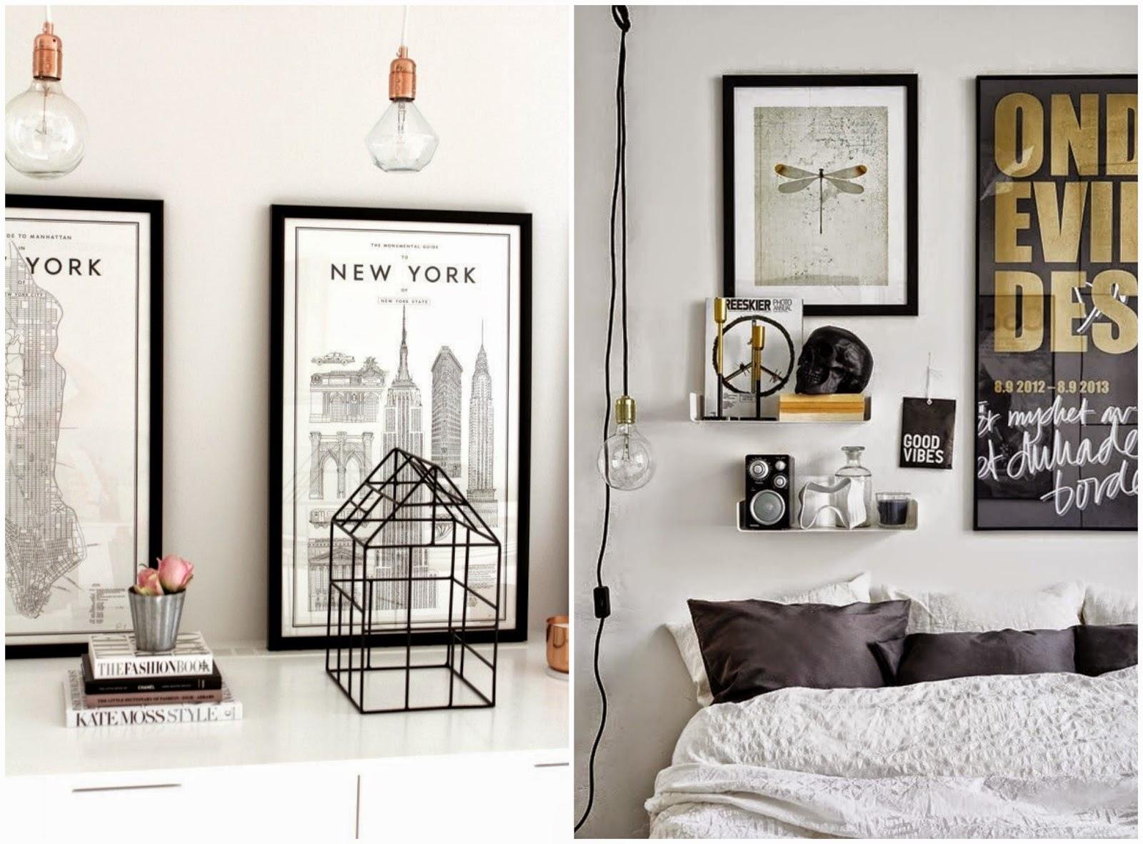 Monochrome Black White Bedroom Dressing Room