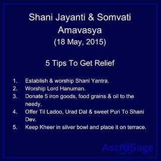 On this day of Shani Jayanti and Somvati Amavasya know the five ways of warding off all the miseries.