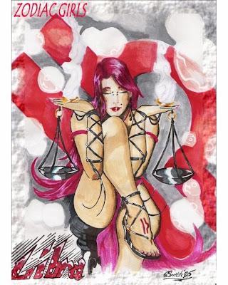 signo zodiacal libra en dibujo