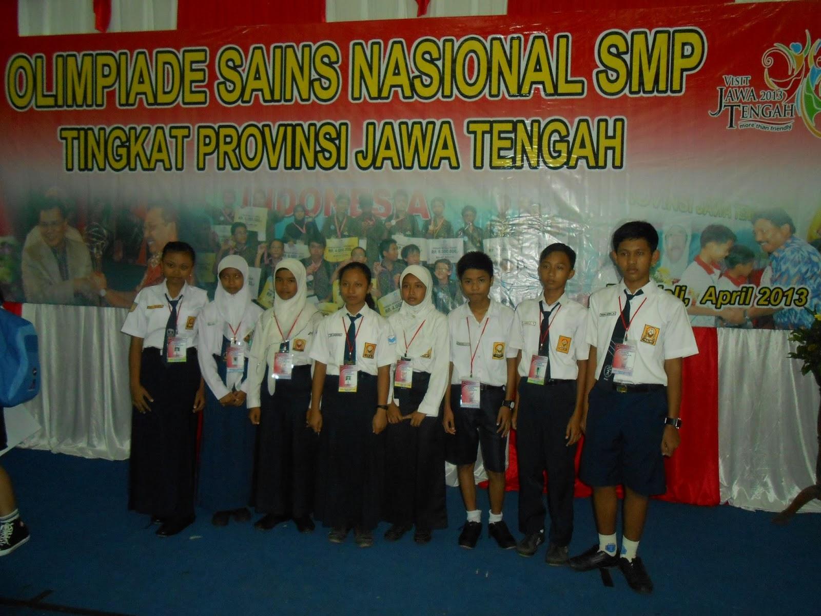Olimpiade Sains Nasional (OSN) Tingkat SMP Tahun 2013: SMP Negeri 1