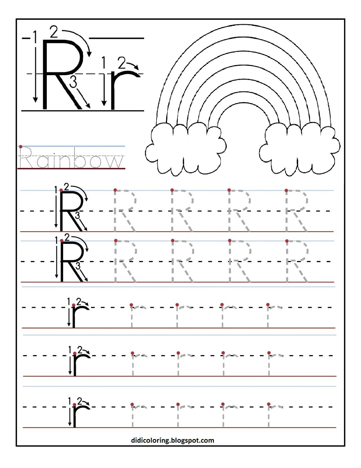 Tracing alphabet worksheets for preschoolers