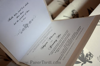 Garden wedding card