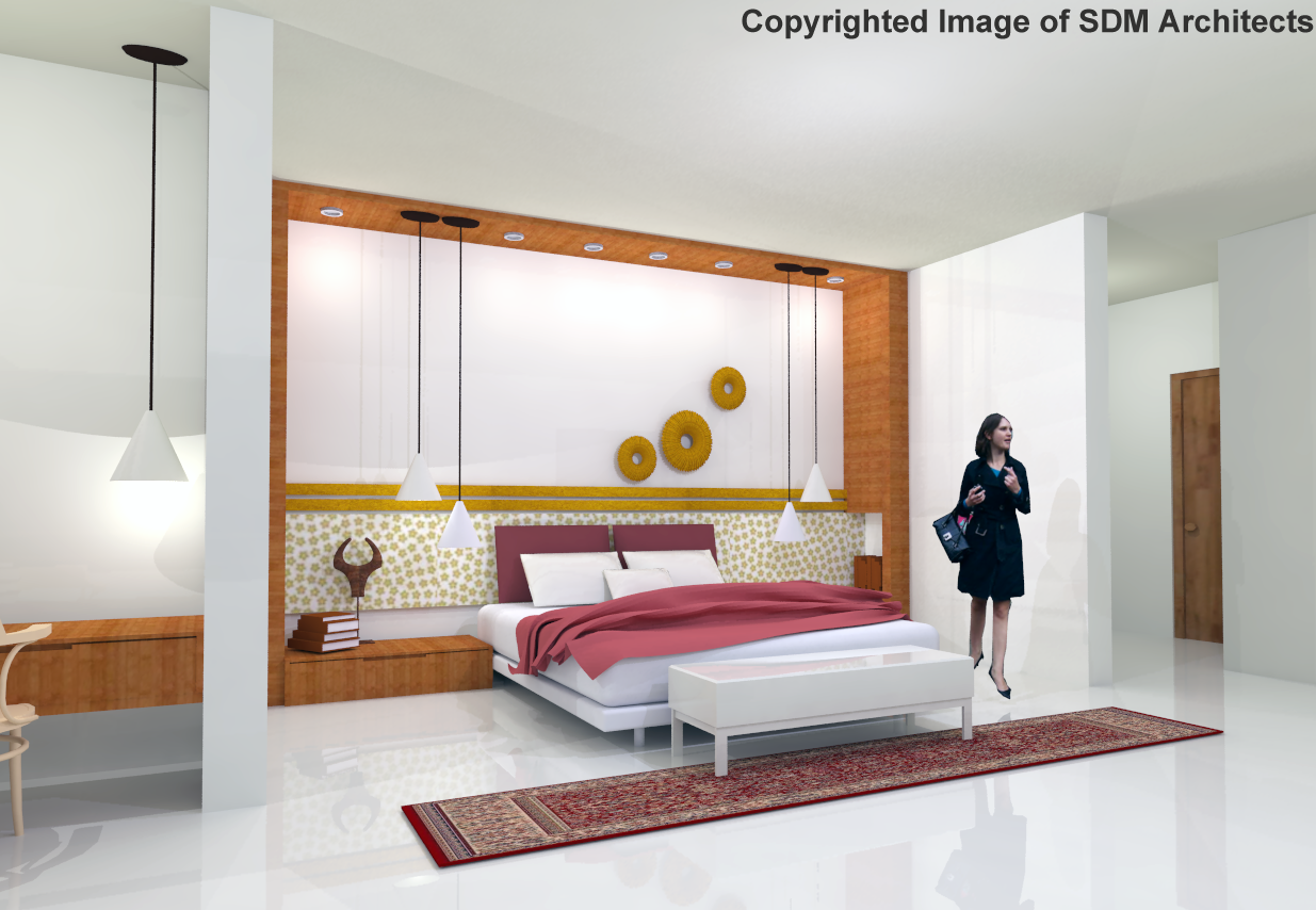 Interior Views For Hotel Bedroom 2