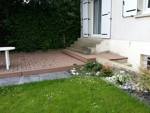 descente de garage en pav s paysagiste val d 39 oise cr ation jardin 95. Black Bedroom Furniture Sets. Home Design Ideas