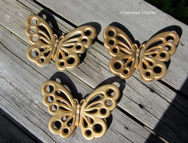 Unique I also purchased these three gold butterflies made in the us by Burwood for They are plastic or Syroco like Homco and Home Interiors plaques from