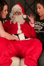 2 Girls Find Out That Santa Claus Has A Little Dick!