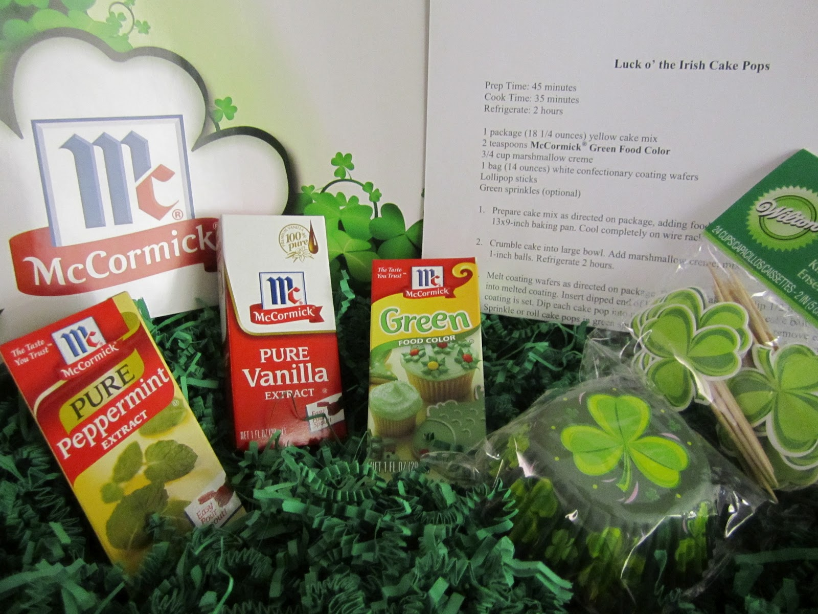 Cute Food For Kids?: McCormick St. Patrick\'s Day Baking Kits Giveaway
