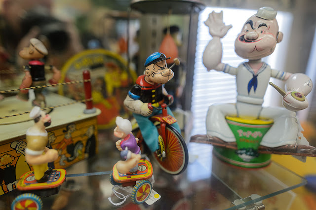 Popeye Collectibles at the Barker Museum