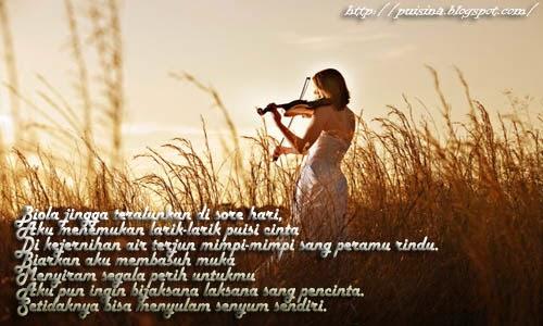 Puisi Biola Jingga sang Pencinta By Sky Shucaya