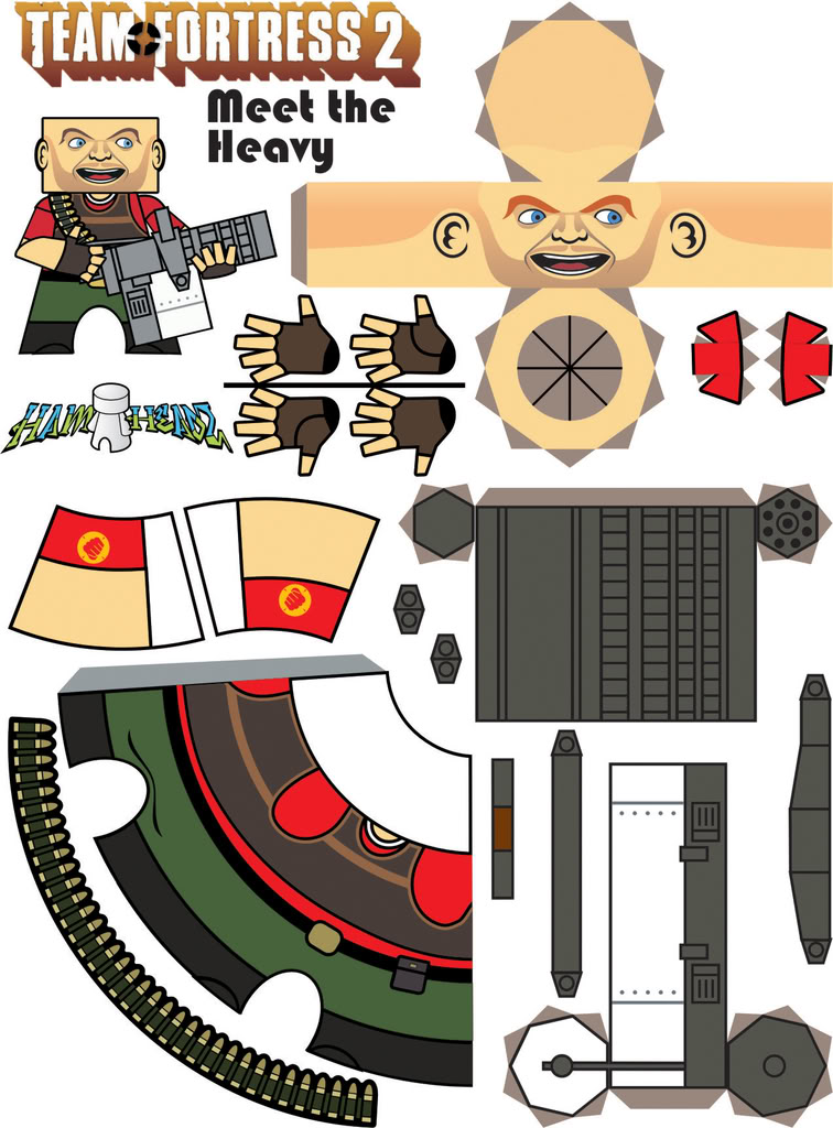 Team Fortress 2: papercraft ambush >:D