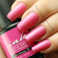 Glam and Glits Ink Gel Polish Rose Fantasy Swatch