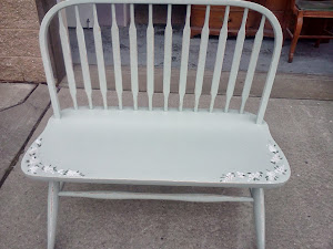 Vintage Painted Shabby Chic Bench