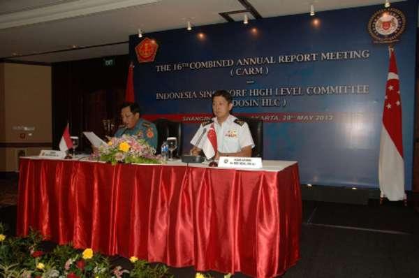 RI-Singapura Tandatangani Kerja Sama Militer