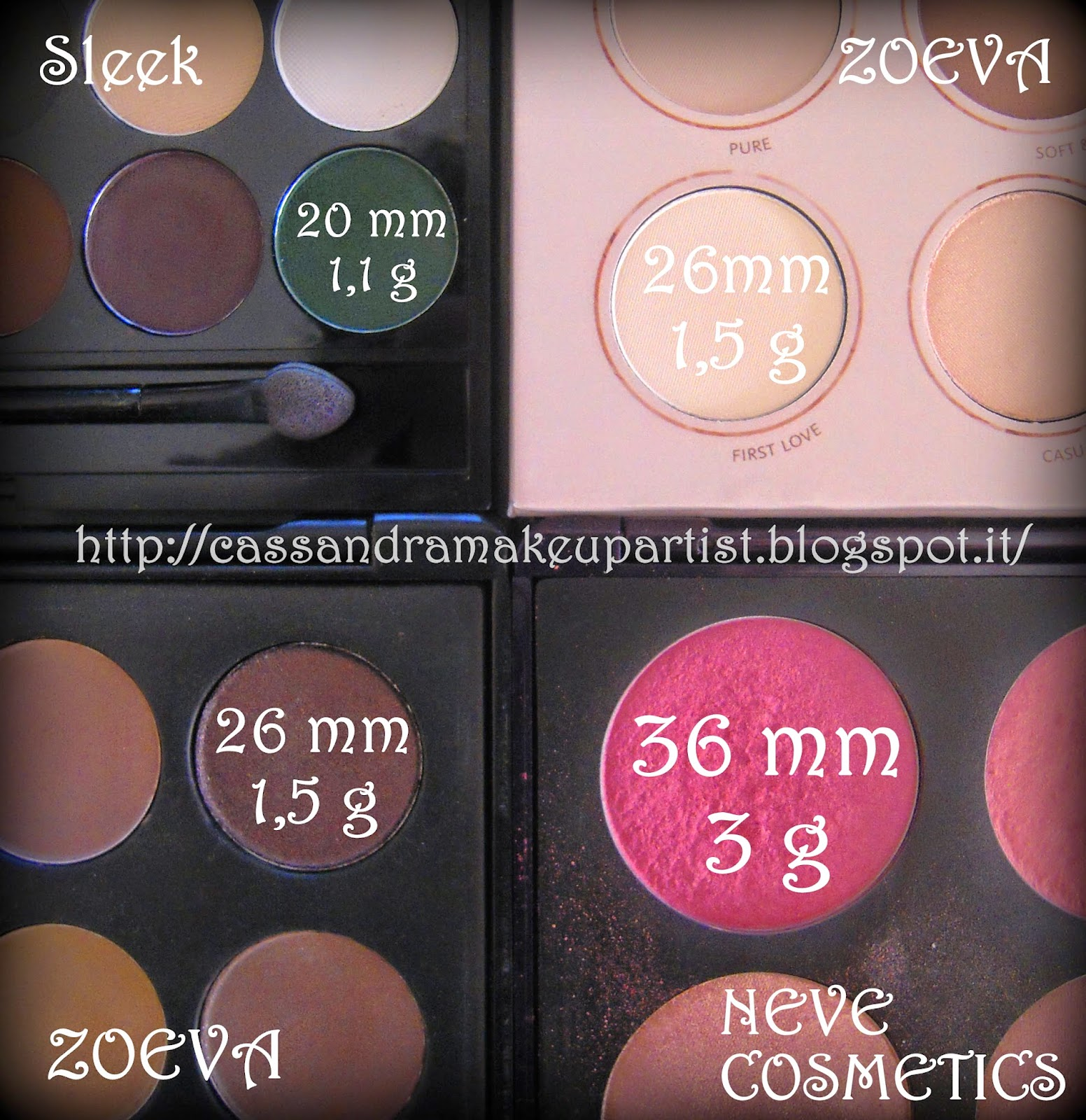 Palette a confronto: sleek - neve arcobaleni - zoeva