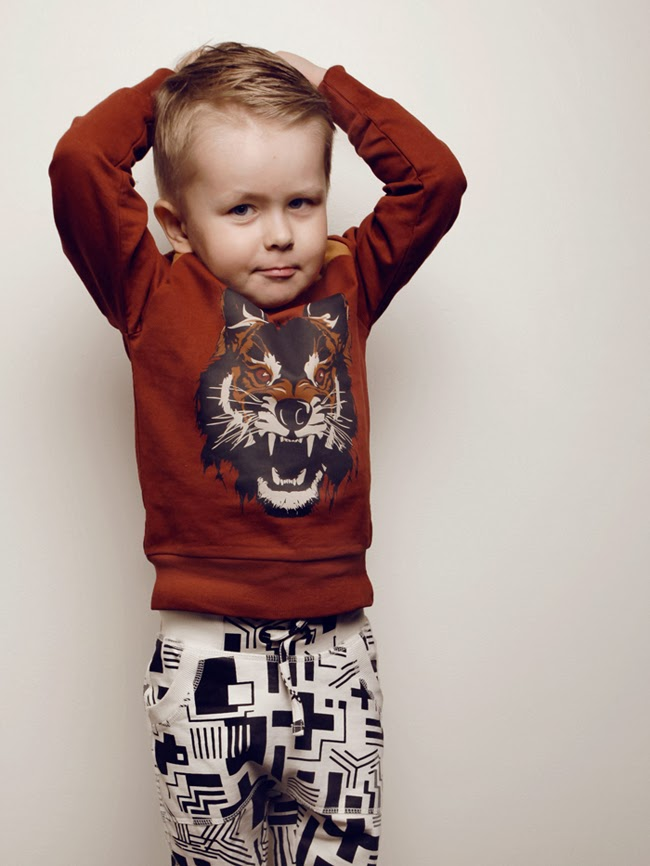 Strong animal prints for Mainio Clothing kidswear collection spring 2014