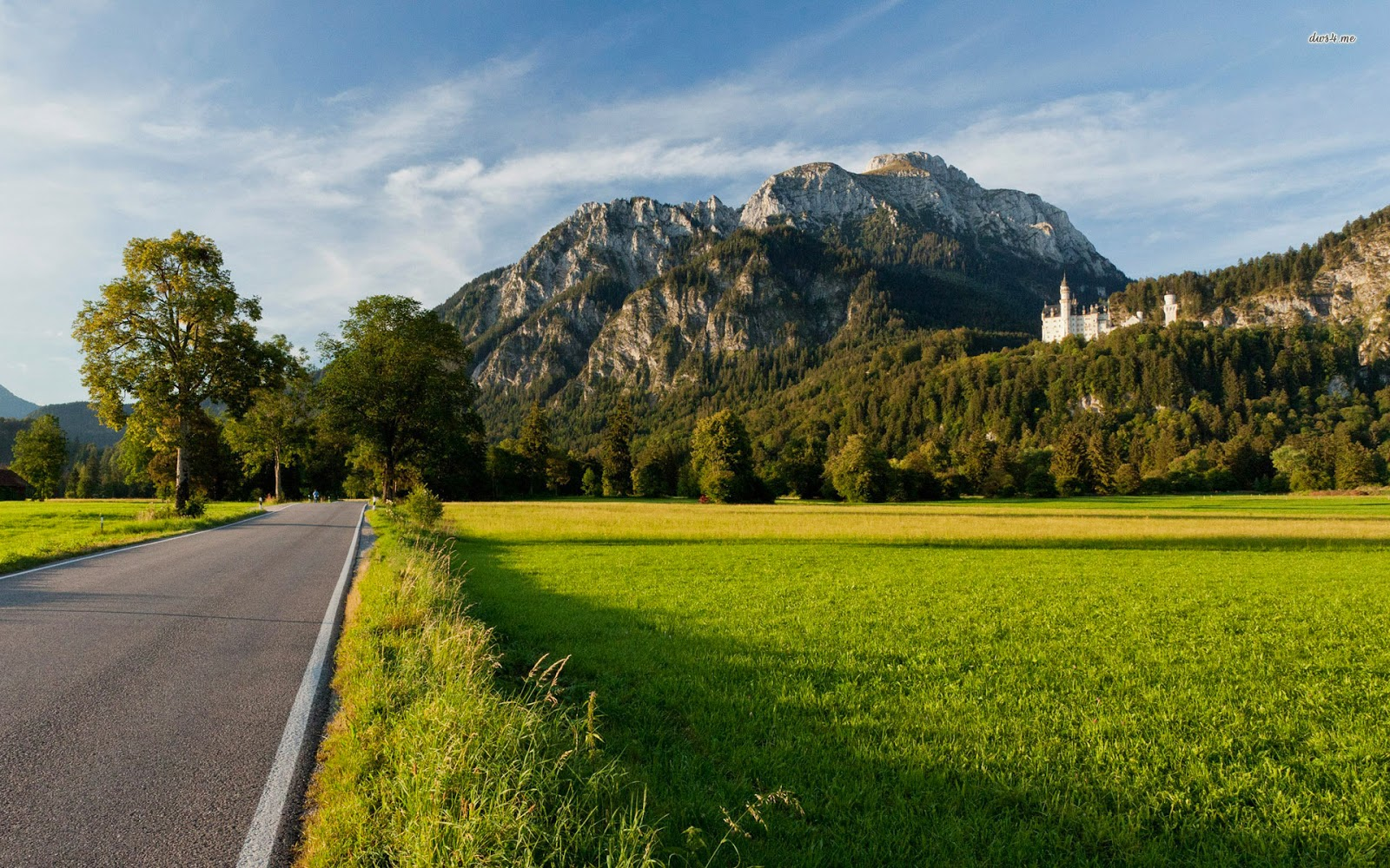 the romantic road to Neuschwanstein