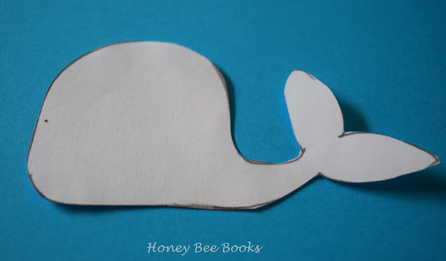 A simple whale template for whale paper clip bookmark