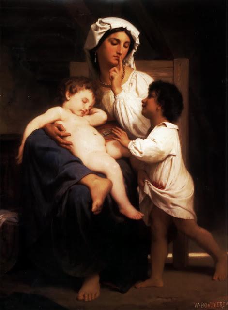 sleeping baby,William Adolphe Bouguereau,5 stars