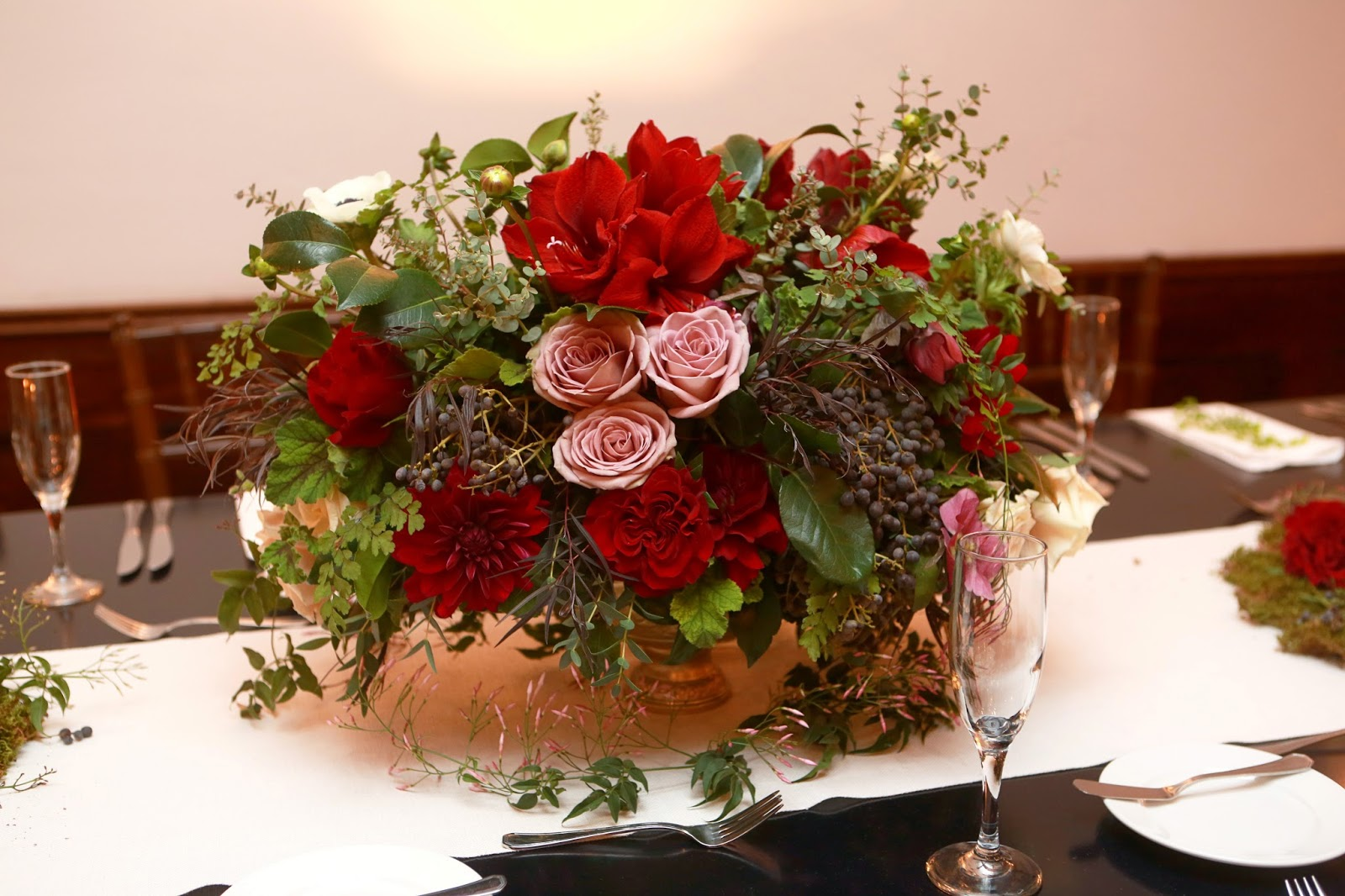 Rancho las lomas winter wedding heavenly blooms