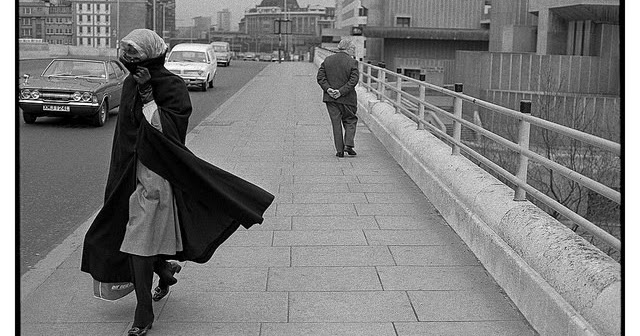 London of 1974 in Black and White