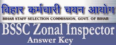 BSSC Answer Key 2014 Zonal Inspector Exam 21st Sep