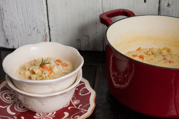 creamy potato soup, dairy, delicious creamy soups, leftover potato soup, light potato soup, paleo soup, rosemary potato soup, rosemary soup, soup, winter soups, A Dash of Delish