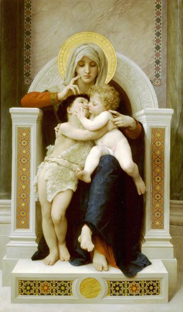 Virgin,Jesus, Saint John the Baptist