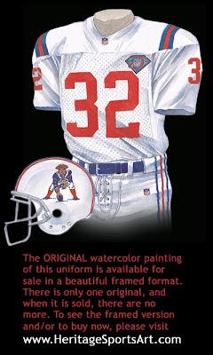 New England Patriots 1994 uniform