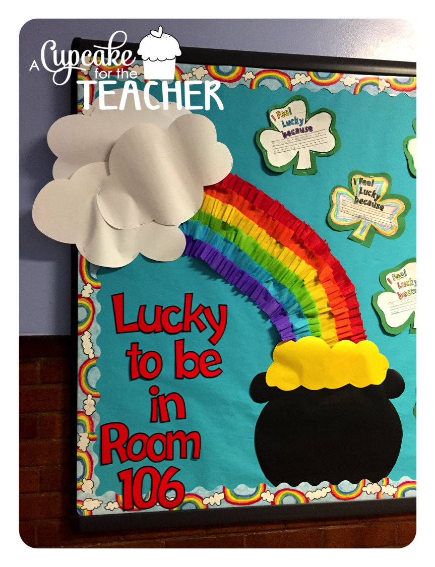 Classroom Decorations For March ~ March bulletin board tutorial and sprint prints a