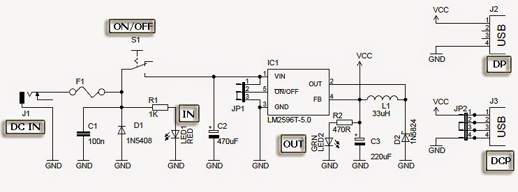 Usb car charger circuit diagram electronic projects ic based usb car charger circuit diagram asfbconference2016
