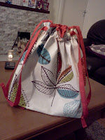 Hand made Knitting Bag