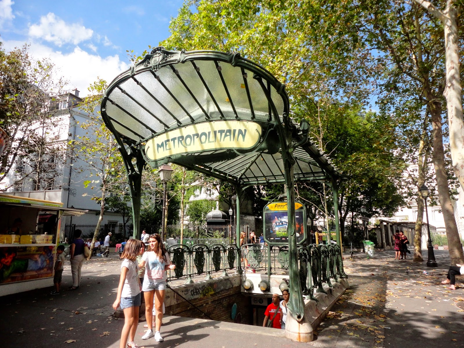Metro station in Montmartre, Paris